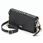 Juicy Couture Sylvia Wallet Crossbody Bag, Womens, Black