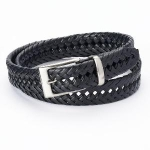 Dockers Braided Black Belt - Men, Size: 40