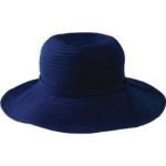 Womens San Diego Hat Company Ribbon Medium Brim Floppy RBM202 Navy
