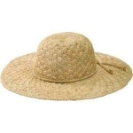 Womens San Diego Hat Company Raffia Shell Stitch Large Brim RHL3084 Natural