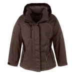 North End Sport Red North End Sport Red Traverse Ladies Two-Tone Textured Insulated Jacket With Hood 78643