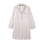 Jaclyn Smith Womens Plus Satin Front Sleep Shirt - Striped