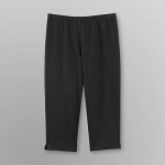 Basic Editions Womens Knit Capri