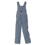 Walls John Deere Youth Kids Boys Washed Hickory Striped Bib Overalls