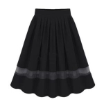 Toptie TopTie Womens Wavy Edge Full Skirt