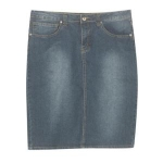 NoFuze Plus Size Jefferson Jean Skirt