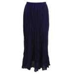 Aqua Broomstick Lined Maxi Skirt