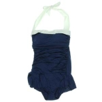 lauren ralph lauren Bandeau Shirred One-Piece Swimsuit
