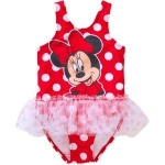 Minnie Mouse Toddler Girl Tutu 1-Piece Polka Dot Swimsuit